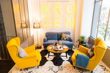 Le salon du restaurant Krogen, conçu par Ubi bene pour Ikea