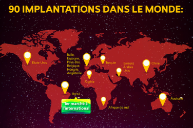Carte GL events dans le monde