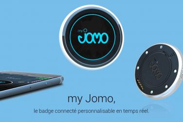 MyJomo badge connecté salon professionnel smartphone technologie
