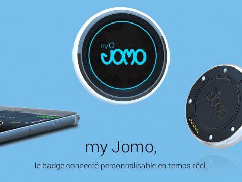 MyJomo badge connecté salon professionnel smartphone technologie