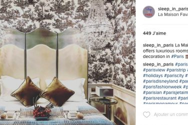 Instagram Sleep in Paris hotels