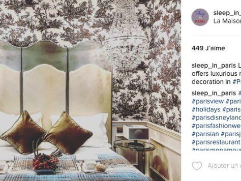 Instagram Sleep in Paris hotels