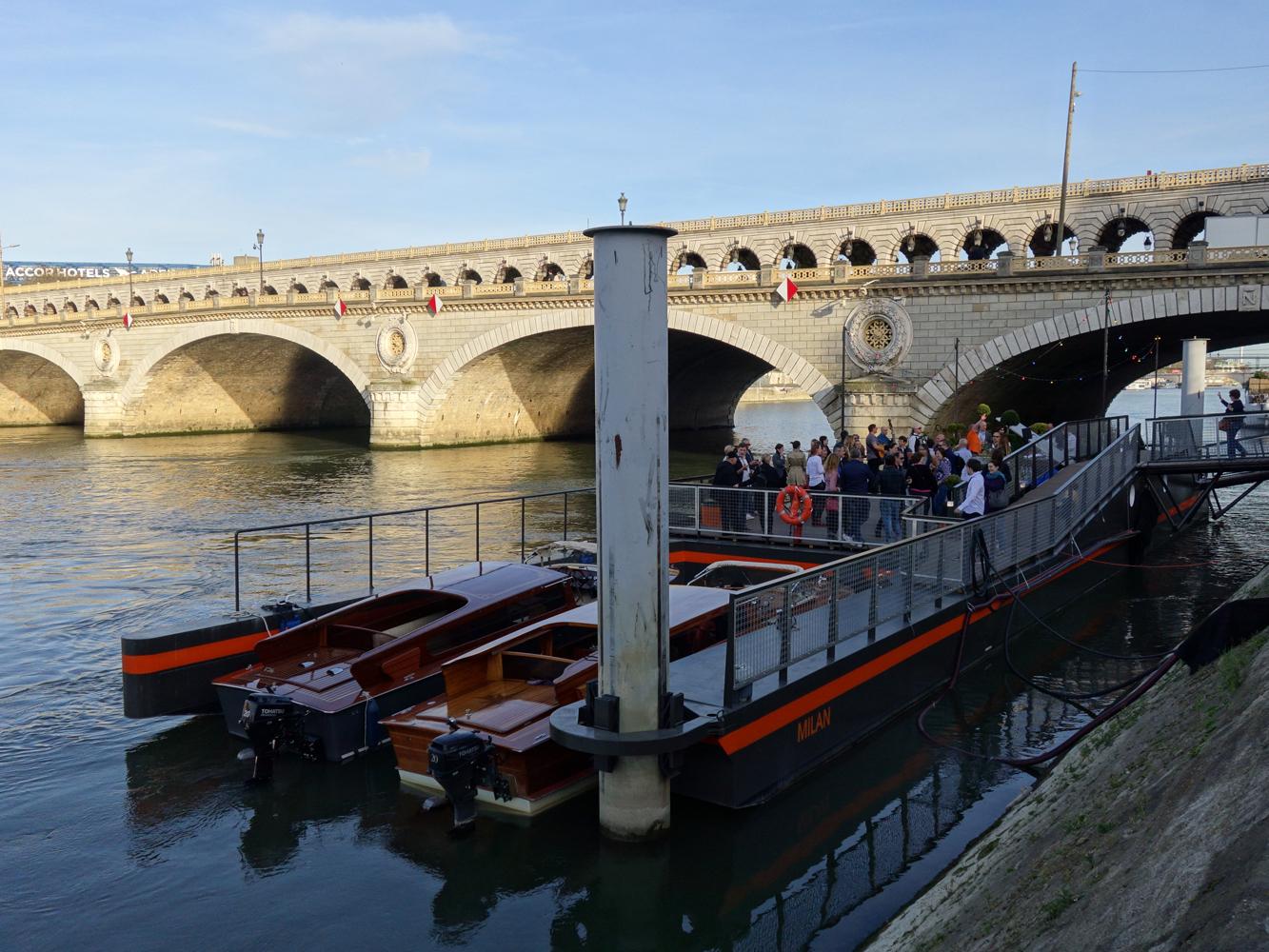 Ponton Milan quai d'austerlitz événementiel paris
