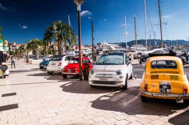 Fiat 500 sur la Croisette