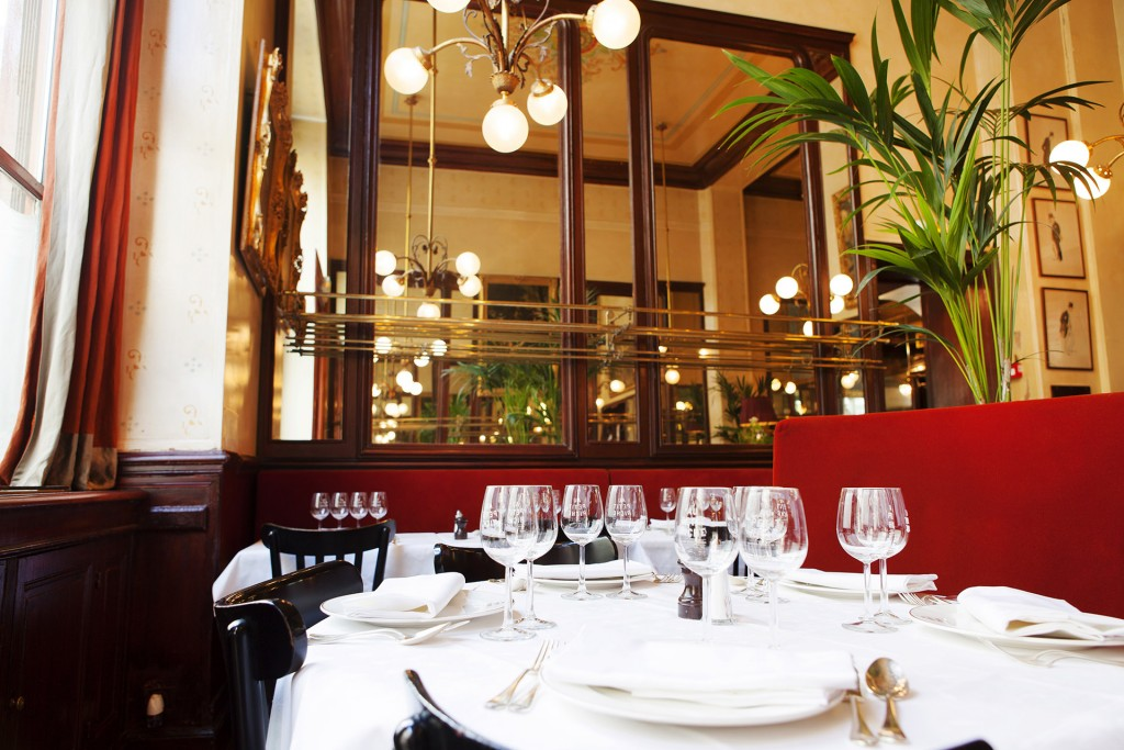 Au Petit Riche restaurant Paris déjeuner d'affaires