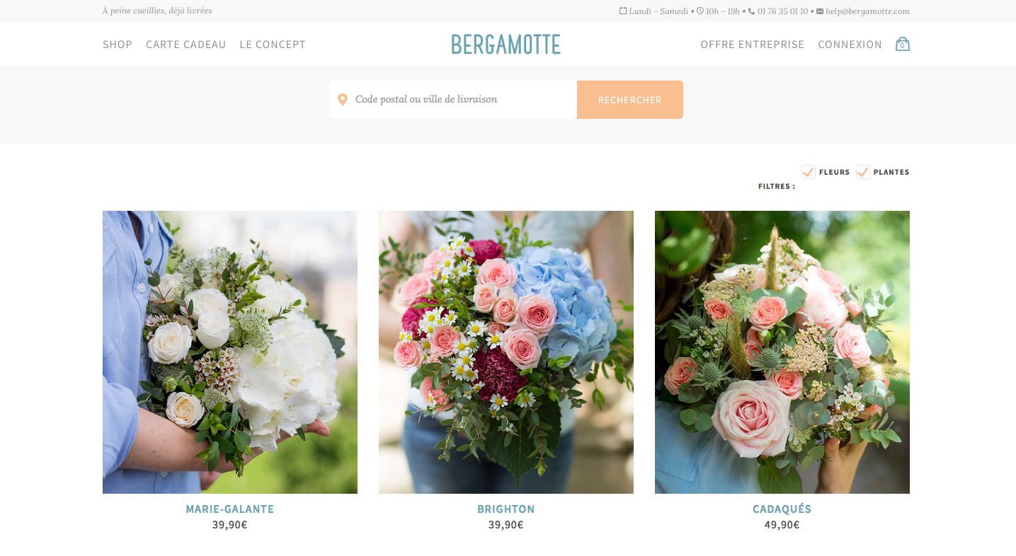 Livraison fleurs Bergamotte