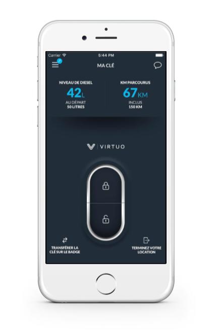 Location de voitures application virtuo