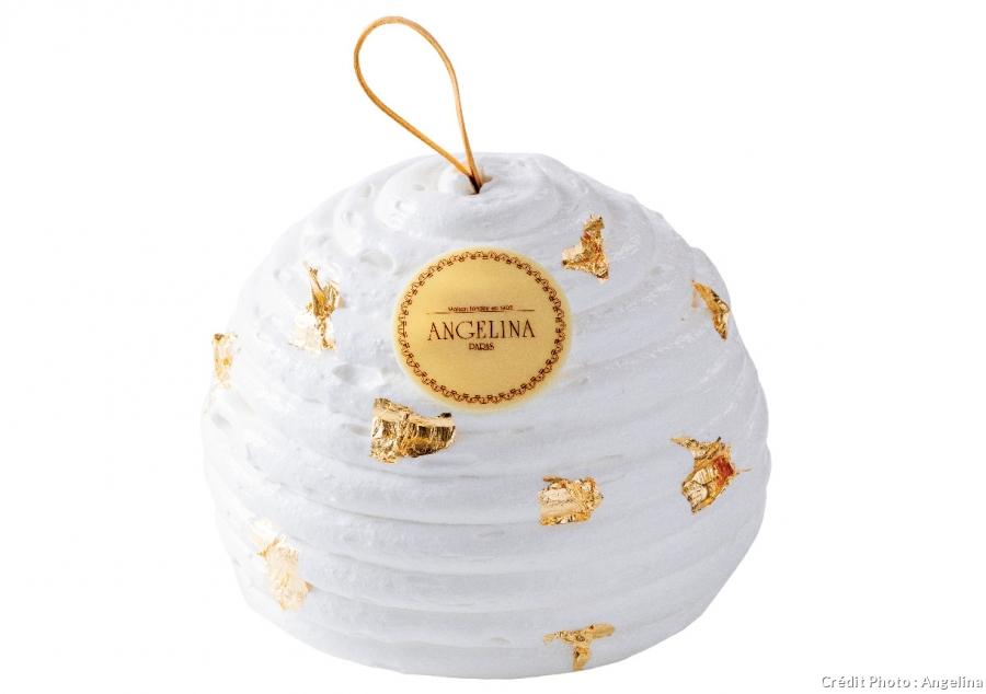 Bûche pâtisserie boule de Noel Angelina