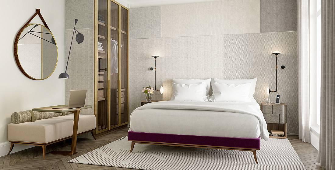 chambre hôtel lit