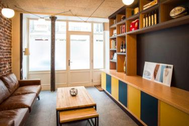 Restaurant bibliothèque salon apéro