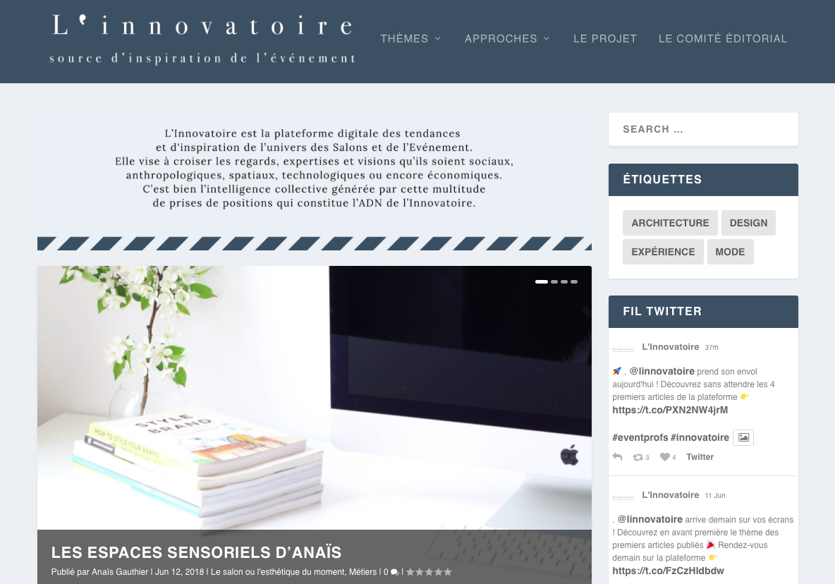 Innovatoire home page