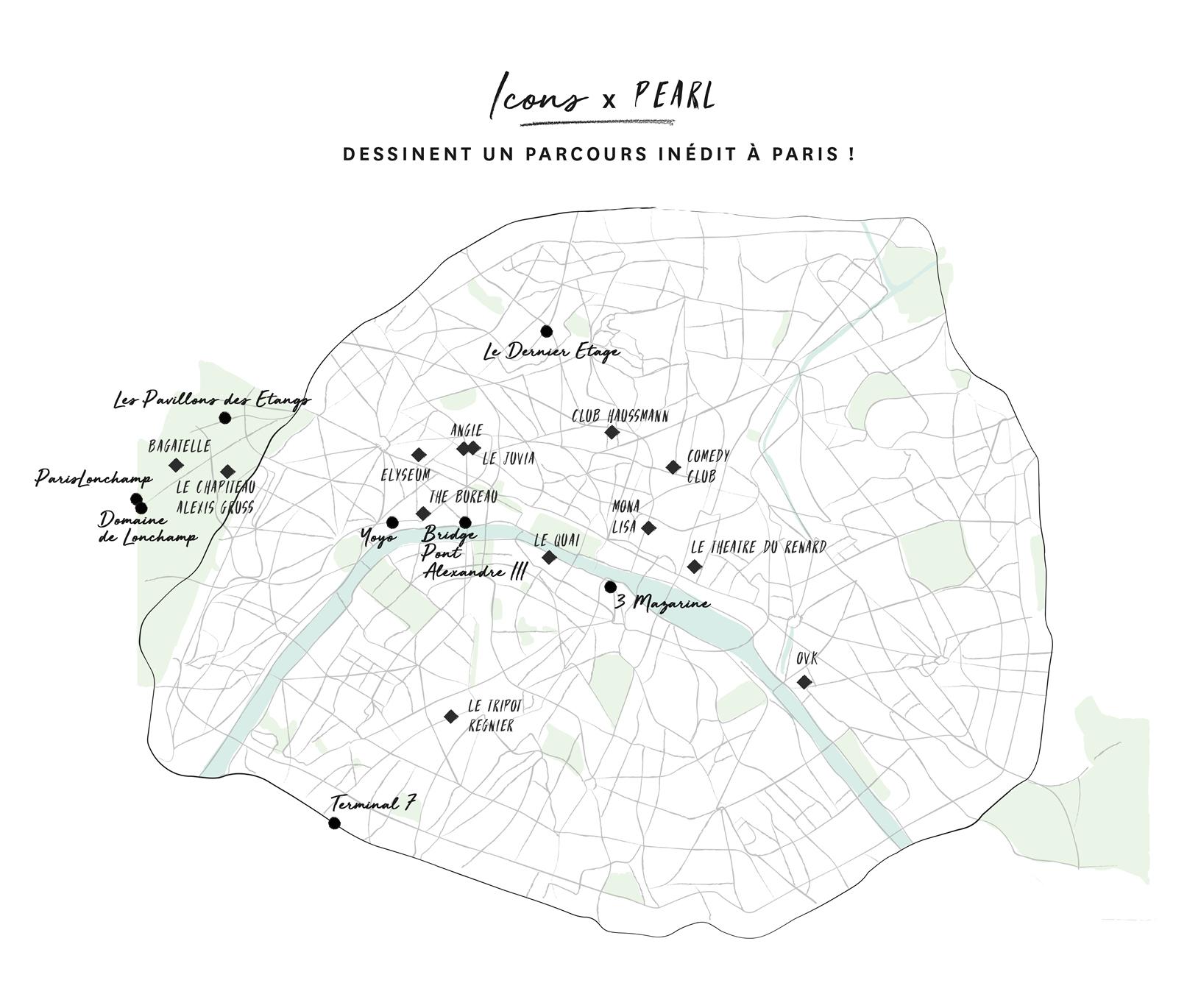 carte de Paris Society Places
