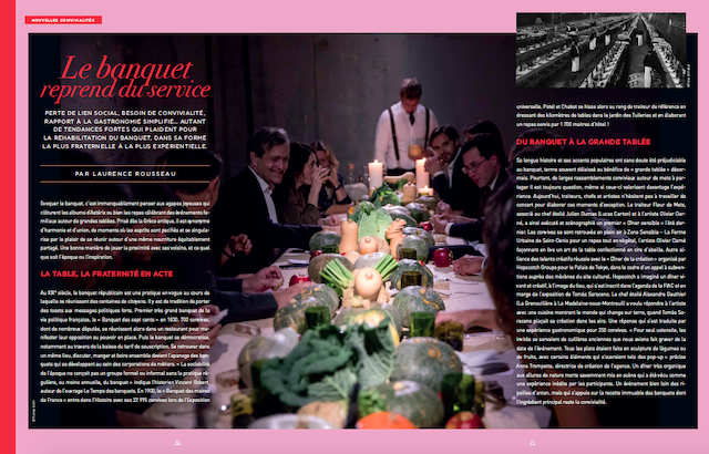 Double page banquet