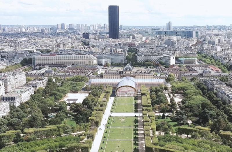 Grand Palais éphémère vue Ecole Militaire